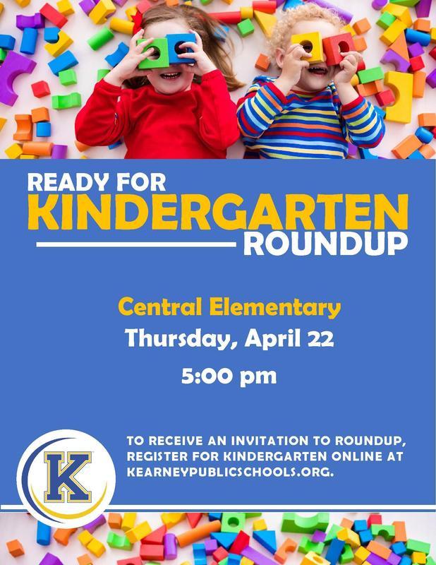 Kindergarten Round Up Poster