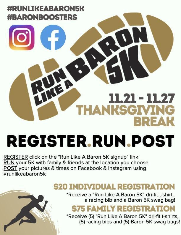 Run like a Baron 5K
