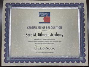 2020 ESEA Distinguished Schools Certificate