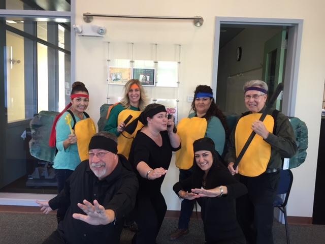 Staff getting into the Halloween spirit