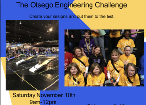 Flyer stating the title of the event with pictures of girls at a competition.