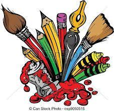 Paint brushes and art materials