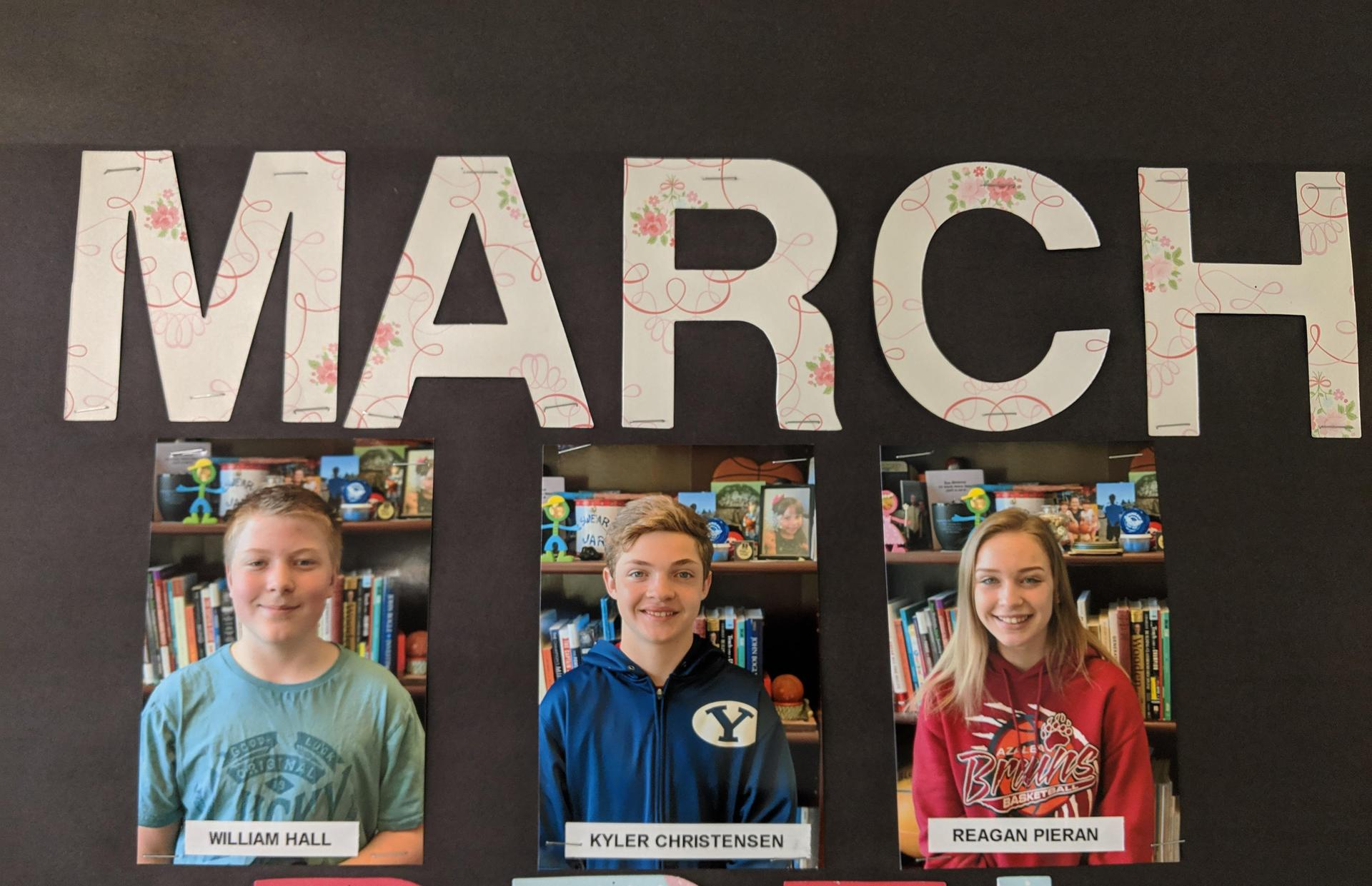 March studdnts of the month