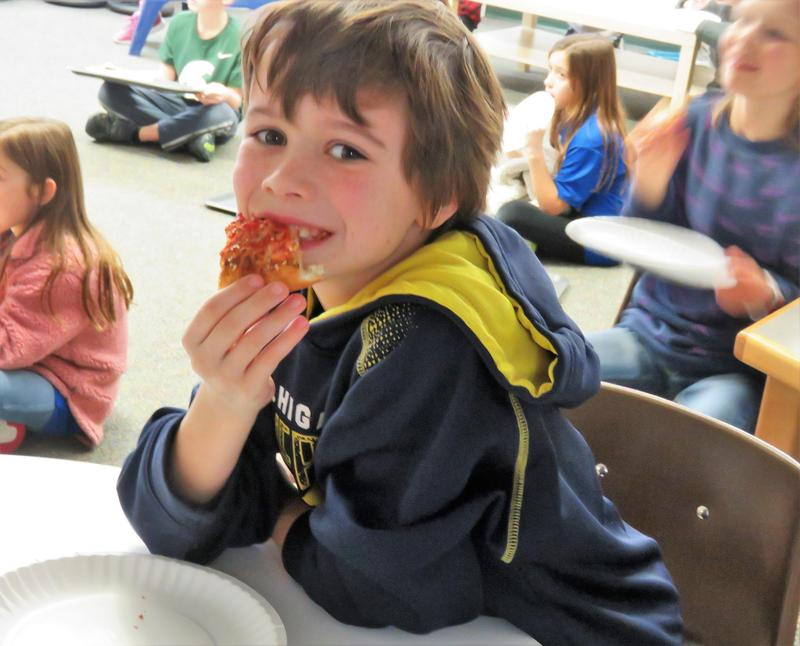 Little Caesar's Pizza was founded in Michigan and was a welcome treat for Lee Elementary students.
