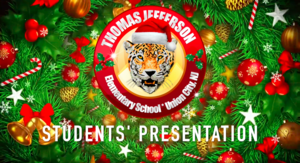 Virtual holiday show title sequence