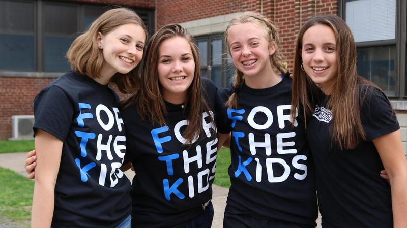 Three WHS students participate in dance marathon to raise money for Children's Specialized Hospital.