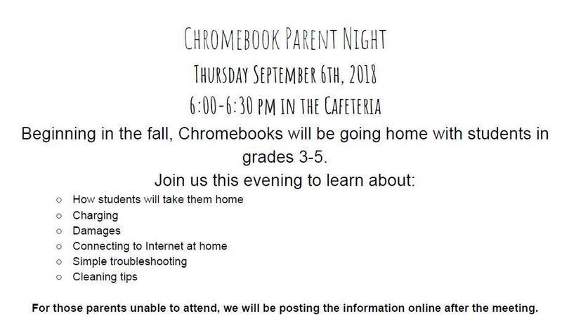 Chromebook Parent Night!
