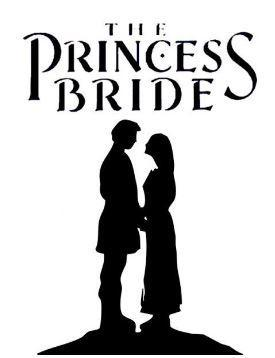 Shadowed figure of a prince and princess holding hands.