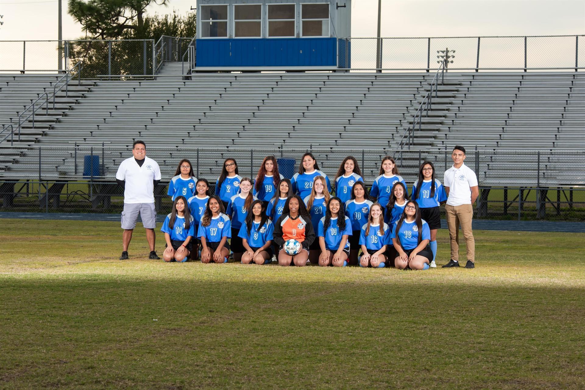2019 JV girls soccer