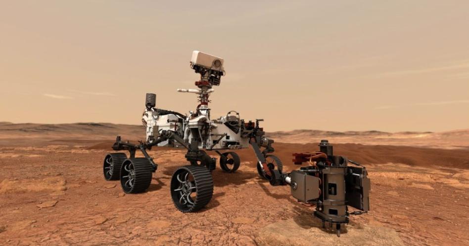 Artist rendition of Mars rover