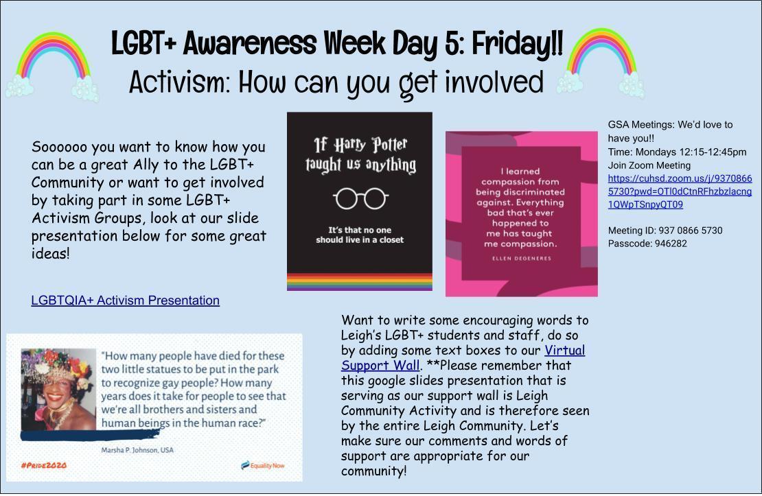 LGBTQ+ Day 5