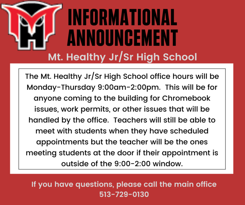 New Hours for Jr/Sr High School Office Featured Photo