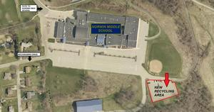 Map of new location of recycling dumpster