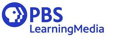 PBS logo, profile inside a blue circle