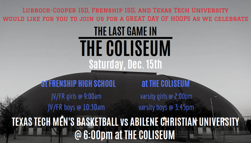 Pirates and Lady Pirates to participate in LAST GAME IN THE COLISEUM Saturday, December 15 Thumbnail Image