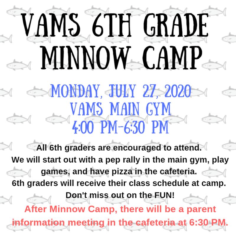 Incoming 6th Grade Minnow Camp Thumbnail Image