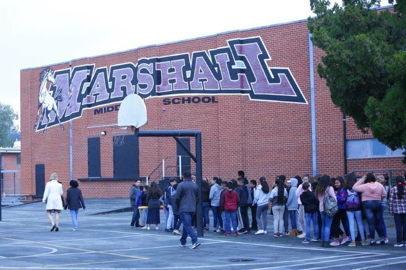 Marshall Middle School's MLK Parade