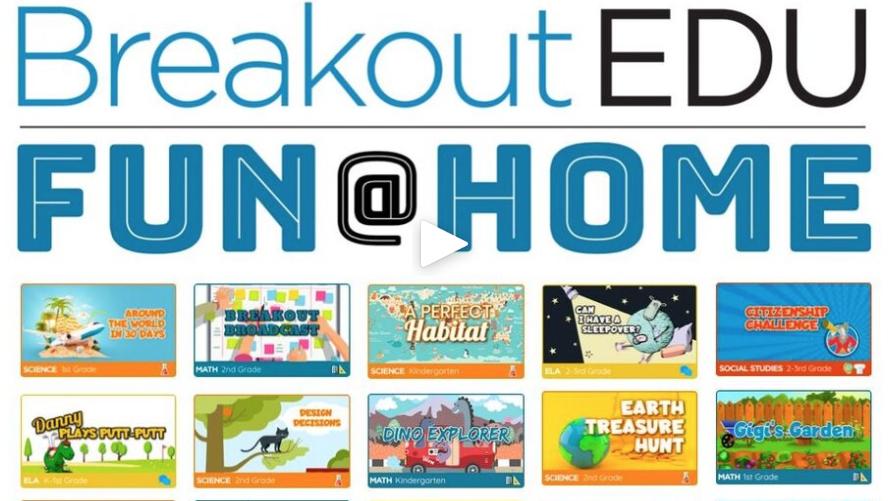Logo: Breakout EDU Fun at Home