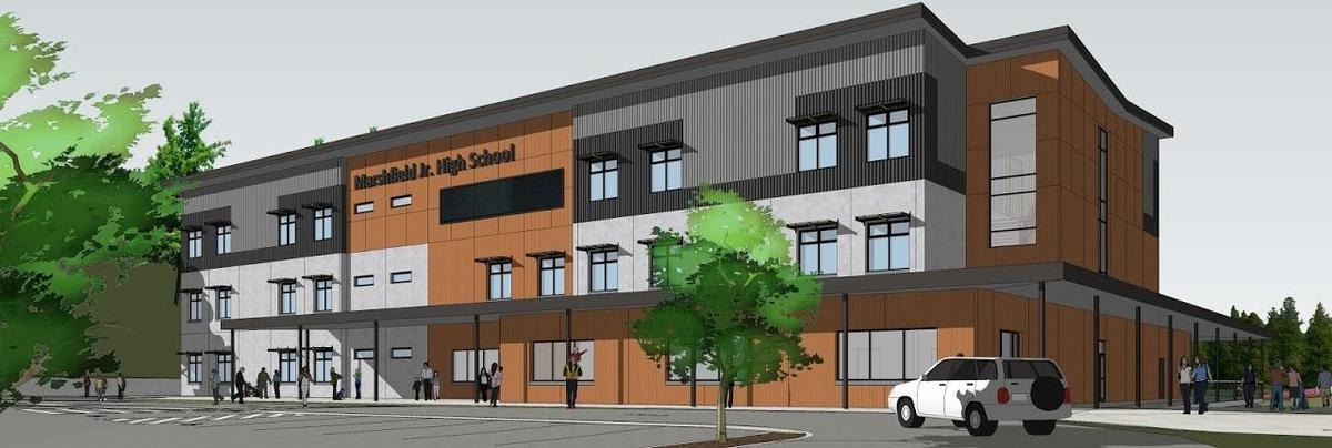 Marshfield Jr. High Building Construction Rendering