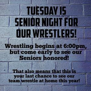 Senior Night for WJ Wrestlers