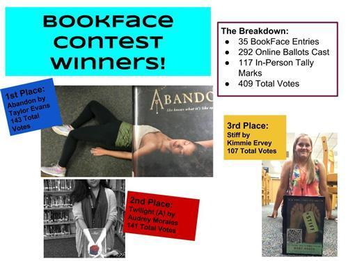 Bookface winners