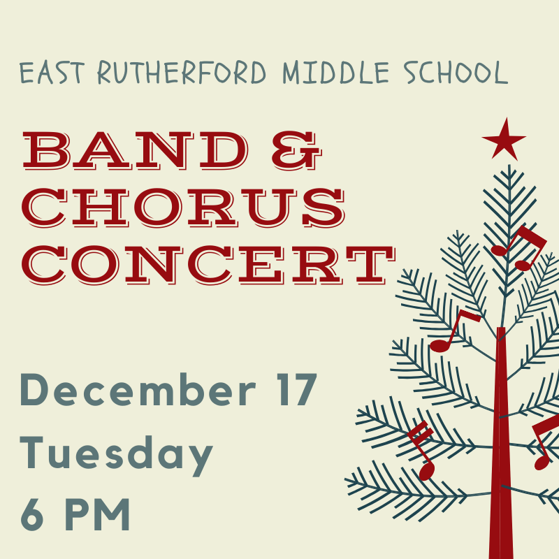 Band & Chorus Concert- December 17 @ 6pm Featured Photo