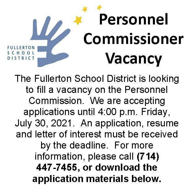 Personnel Commissioner Vacant Seat
