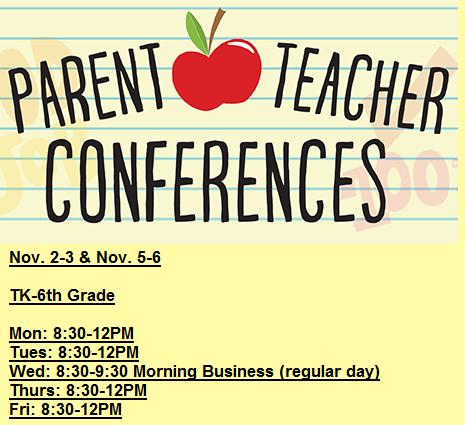 Parent Teacher Conferences - Minimum Day Schedule Featured Photo