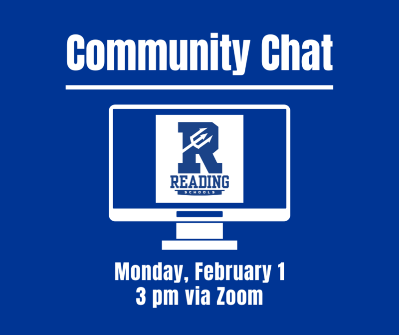 Community Chat, Monday, February 1, 3 pm Via Zoom