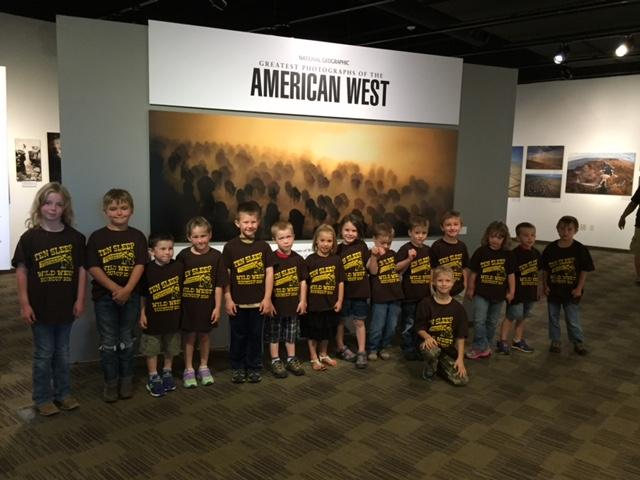Students at the Worland museum