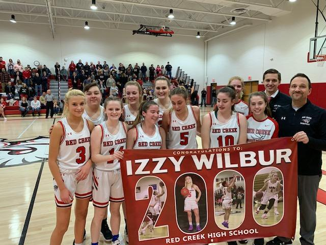 Red Creek Girls Varsity Basketball Team, Feb 2020