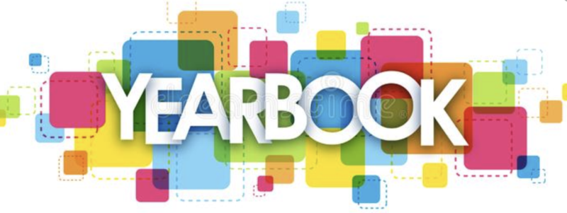 word yearbook in colors