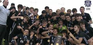 Boys Soccer Team with PIAA trophy