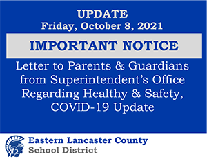Important Notice October 8, 2021 Banner Image