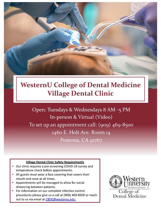 WesternU College of Dental Medicine Village Dental Clinic Featured Photo