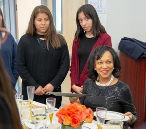 Dr. Grimes teaches etiquette classes in 2018