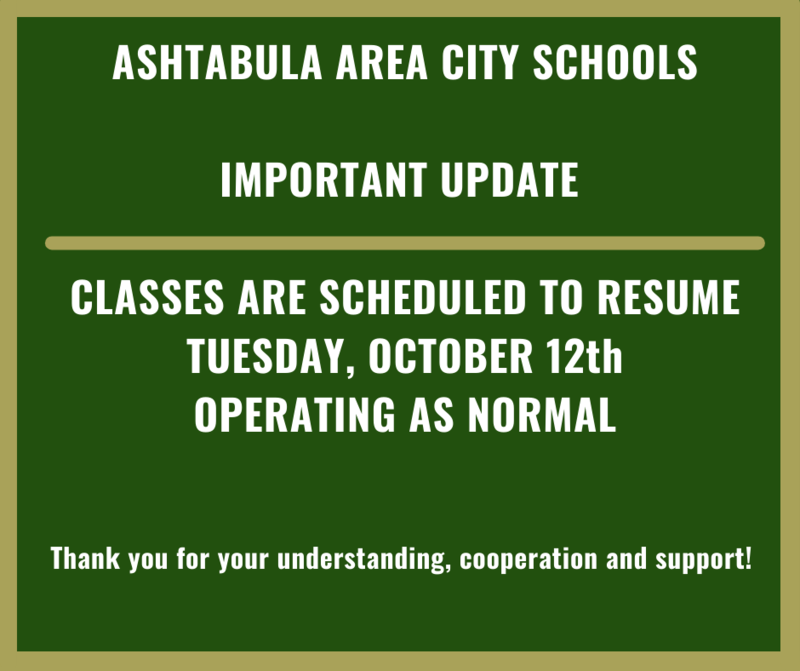 AACS SCHOOL RESUMES TUESDAY, OCTOBER 12th Featured Photo