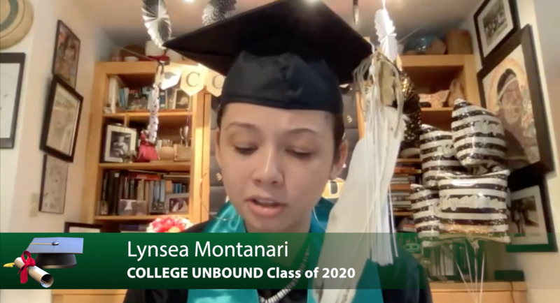 College Unbound Spring Class of 2020 - Hear graduation remarks from the ceremony. Click here. Featured Photo