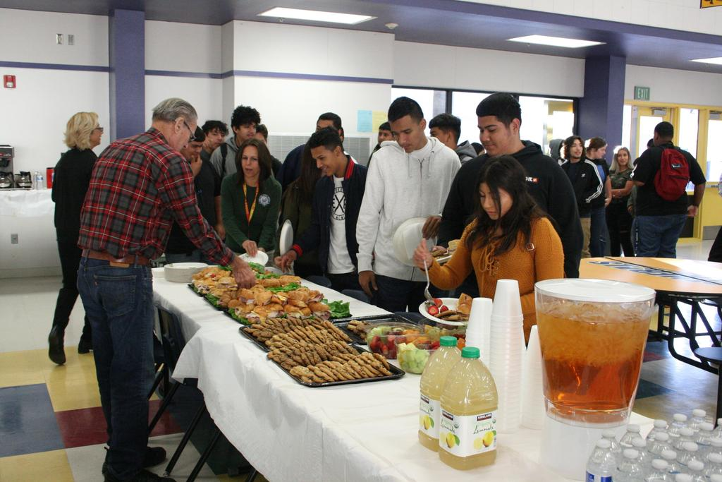 Food was great at the awards ceremony.