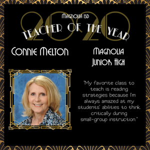 Connie Melton Named Magnolia ISD's District Secondary Teacher of the Year