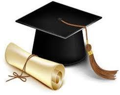 Cap and diploma clip art