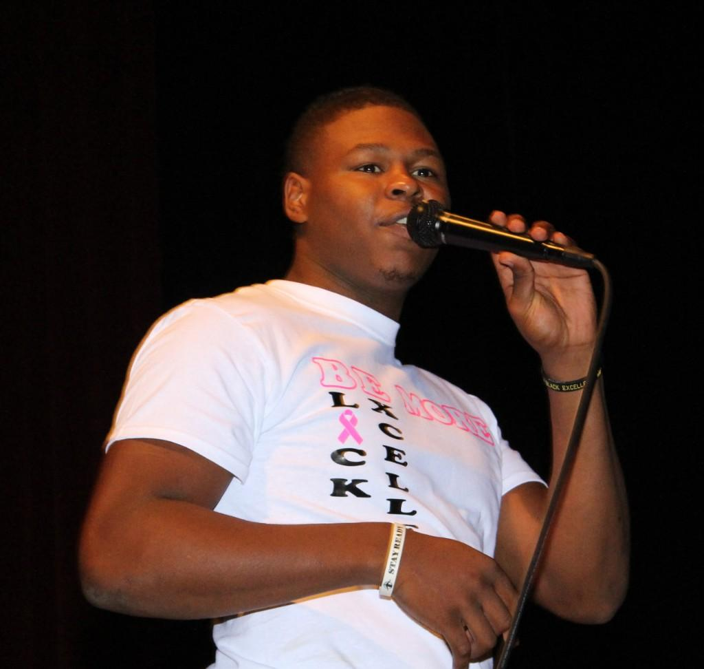 Devontae Butler Assembly and Day 1 of Spirit Week College Shirt Day - 1017