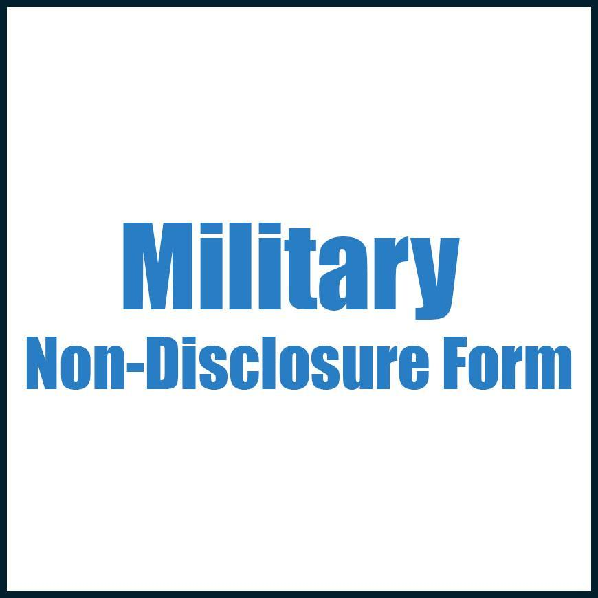 Military Non Disclosure Form