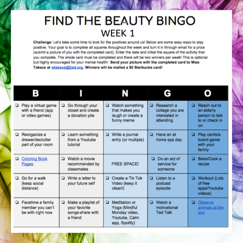 Bingo Week 1
