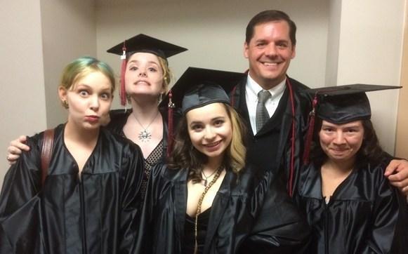 Graduates with Matt Baker