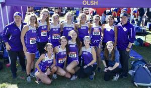 photo of the OLSH Girls Cross Country team