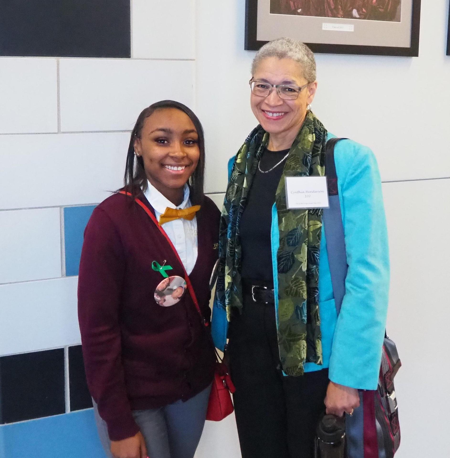 Cynthia Henderson and student