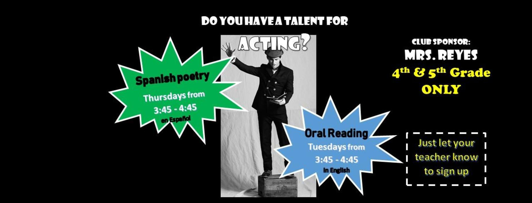 oral reading info