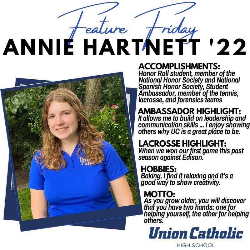 Annie Hartnett has made her presence felt in and out of the classroom at Union Catholic Thumbnail Image