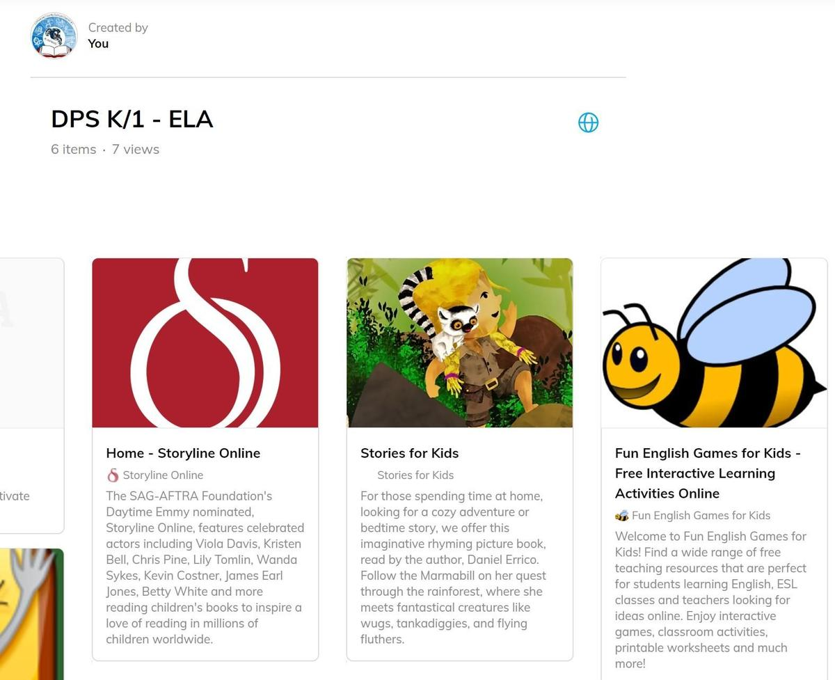 Home Learning Resources screenshot